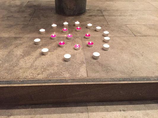 21 Kerzen für 21 katholische Schulen