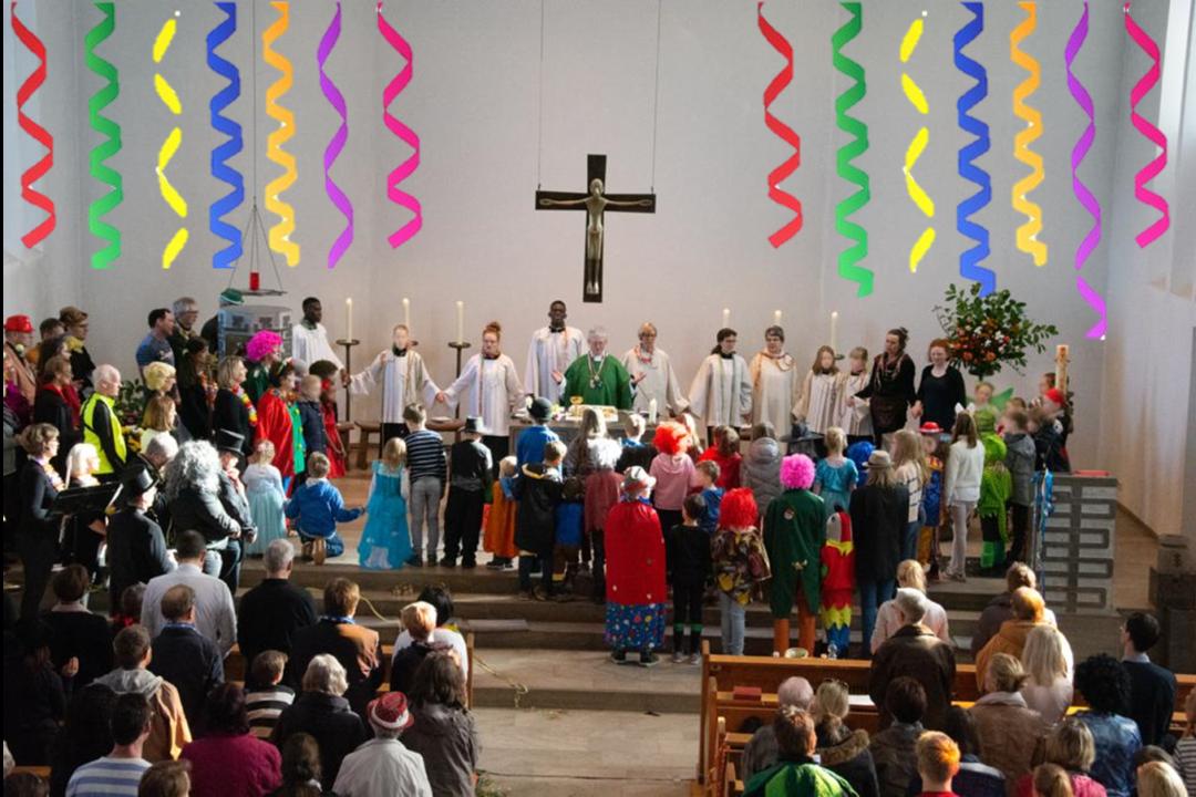 Luftschlangen-Gottesdienst: Werdet wie die Clowns